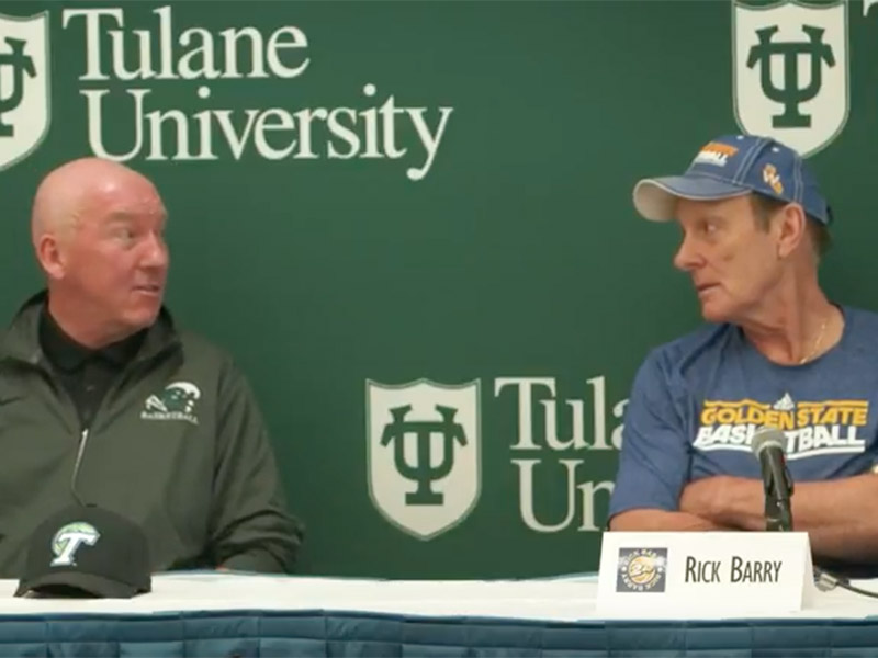 Tulane Head Coach Mike Dunleavy, Sr. and Brent Barry discuss the All-Star game then and now