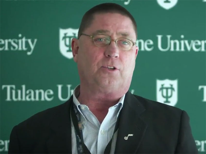 Richard Smith talks about the analytics movement in professional sports at NBA Day at Tulane