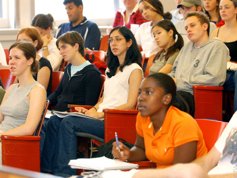 Students listen to class lecture
